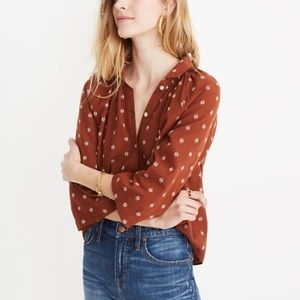 Madewell k9995 raglan peasant shirt NWT